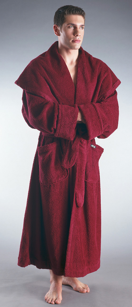 men 39 s luxury monk style full length hooded bathrobe. Black Bedroom Furniture Sets. Home Design Ideas