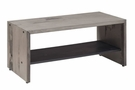"""42"""" Solid Rustic Reclaimed Wood Entry Bench in Gray - Walker Edison B42ALPGY"""