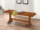 """48"""" Millwright Wood Dining Bench in Antique Brown - Walker Edison B48MRAB"""