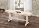 """48"""" Millwright Wood Dining Bench in Antique White - Walker Edison B48MRAWH"""