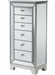 "6 Drawer Jewelry Armoire W18""X D12.5""X H38"" in Antique Silver Paint - Elegant Lighting MF72003"