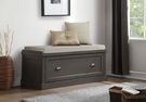 Aislins Bench w/ Storage in Fabric & Gray - Acme Furniture 96616
