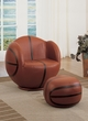 All Star 2Pc Pk Chair & Ottoman in Basketball: Brown & Black - Acme Furniture 05527