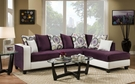 Ame Sectional Implosion Purple & Stark White - Chelsea Home Furniture 424124-15-SEC-IP