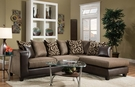 Ame Sectional Object Espresso & Emboss Espresso - Chelsea Home Furniture 424124-01-SEC