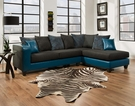 Ame Sectional Tampa Teal - Chelsea Home Furniture 424124-16SEC-TT