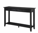 American Heritage Console Table /w drawer in Black Finish - Convenience Concepts 7103081-BL