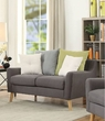 Amie Loveseat w/ 4 Pillows in Gray Fabric - Acme Furniture 53331