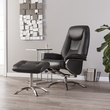 Anders Reclining Chair & Ottoman - Transitional Style - Charcoal - Southern Enterprises UP4606