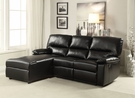 Artha Sectional Sofa (Motion) in Black Bonded Leather Match - Acme Furniture 51555