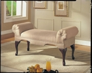 Aston Bench w/ Rolled Arm in Beige Microfiber - Acme Furniture 05629