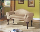 Aston Bench w/ Rolled Arm in Beige Microfiber - Acme Furniture 05630