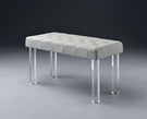 Bagley Bench in Linen & Clear Acrylic - Acme Furniture 96510
