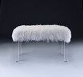 Bagley Bench in Wool & Clear Acrylic - Acme Furniture 96505