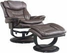 Barcalounger 15-8039 Roscoe Pedestal Recliner / Ottoman in 3609-87 Chelsea Chocolate / Leather Match