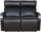 Barcalounger 29PH-3089 Cosmo Power Reclining Loveseat w/ Power Head Rests in 3621-99 Apollo Onyx / Leather Match