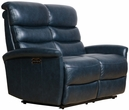 Barcalounger 29PH-3312 Kelso Power Reclining Loveseat w/ Power Head Rests in 3706-45 Ryegate Sapphire Blue / Leather Match