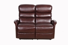 Barcalounger 29PH-3312 Kelso Power Reclining Loveseat w/ Power Head Rests in 3706-75 Ryegate Burgundy / Leather Match