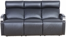 Barcalounger 39PH-3089 Cosmo Power Reclining Sofa w/ Power Head Rests in 3621-99 Apollo Onyx / Leather Match