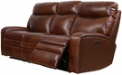 Barcalounger 39PH-3249 Damon Power Reclining Sofa w/ Power Head Rests in 3706-86 Rygate Brownstone / Leather Match