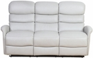 Barcalounger 39PH-3312 Kelso Power Reclining Sofa w/ Power Head Rests in 3702-91 Wenlock Dove / Leather Match