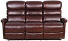 Barcalounger 39PH-3312 Kelso Power Reclining Sofa w/ Power Head Rests in 3706-75 Ryegate Burgundy / Leather Match