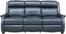 Barcalounger 39PH-3324 Warrendale Power Reclining Sofa w/ Power Head Rests in 5700-47 Shoreham Blue / All Leather