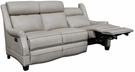 Barcalounger 39PH-3324 Warrendale Power Reclining Sofa w/ Power Head Rests in 5700-81 Shoreham Cream / All Leather