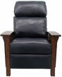 Barcalounger 7-3323 Mission Recliner in 5700-47 Shoreham Blue / All Leather