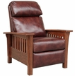 Barcalounger 7-3323 Mission Recliner in 5702-87 Wenlock Fudge / All Leather