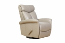 Barcalounger 8-3282 Diego Swivel Glider Recliner in 3702-83 Wenlock Taupe / Leather Match
