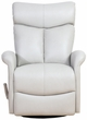Barcalounger 8-3282 Diego Swivel Glider Recliner in 3702-91 Wenlock Dove / Leather Match