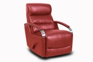Barcalounger 8-3319 Shadow Swivel Glider Recliner in 3503-11 Contact Red / Leather Match