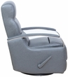 Barcalounger 8-3319 Shadow Swivel Glider Recliner in 3523-92 Toby Gray / Leather Match