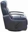 Barcalounger 8-3319 Shadow Swivel Glider Recliner in 3621-99 Apollo Onyx / Leather Match
