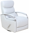 Barcalounger 8-3319 Shadow Swivel Glider Recliner in 3702-91 Wenlock Dove / Leather Match