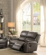 Barnaby Loveseat (Motion) in Gray Polished Microfiber - Acme Furniture 52881