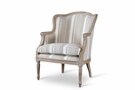 Baxton Studio Charlemagne Traditional French Accent Chair w/ Brown Stripe - ASS293Mi CG4