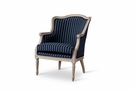 Baxton Studio Charlemagne Traditional French Black & Grey Striped Accent Chair - ASS378Mi CG4