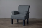 Baxton Studio Classics Collection Gray Wing Chair - 9071-Gray-CC