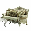 Bently Loveseat w/ 5 Pillows in Fabric & Champagne - Acme Furniture 50661