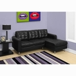 Black Bonded Leather Sofa Lounger - Monarch Specialty I-8380BK