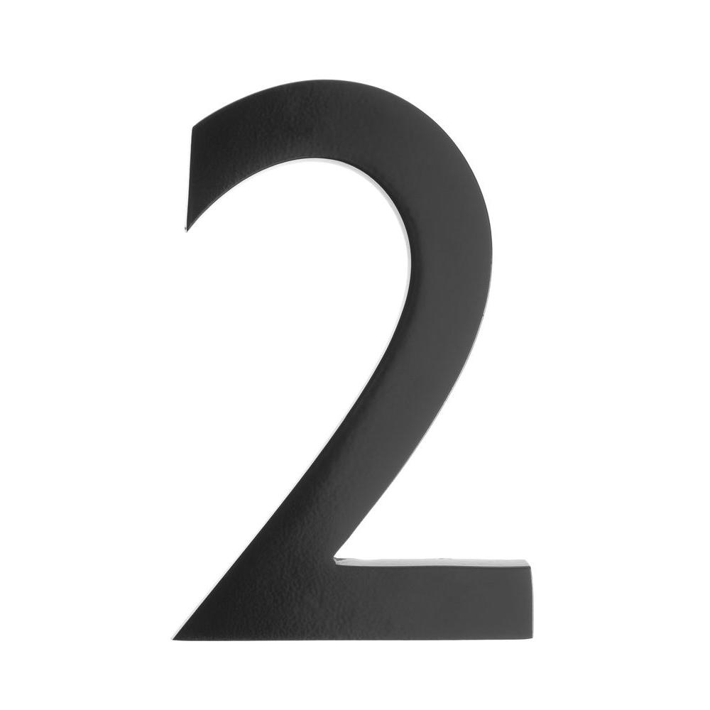 Br 5 Inch Floating House Number Black 2 Architectural Mailbo 3585b
