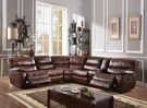 Brax Sectional Sofa (Power Motion) in 2-Tone Brown Leather Gel - Acme Furniture 52070