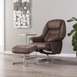 Bridger Reclining Chair/Ottoman - Transitional Style- Mocha Brown - Southern Enterprises UP4212