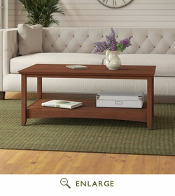 Buena Vista Coffee Table in Serene Cherry - Bush Furniture MY13607-03