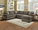 Campbell Sectional Cornell Pewter - Chelsea Home Furniture 422750-03-SEC-CP