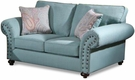 Camryn Loveseat Crawford Turquoise - Chelsea Home Furniture 781450-02-L-CT