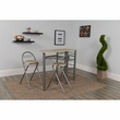Carnegie 3 Piece Space-Saver Natural Finish Bistro Set w/ Wine Rack, Shelving & Folding Chairs - Flash Furniture XM-JM-A0174-N-GG