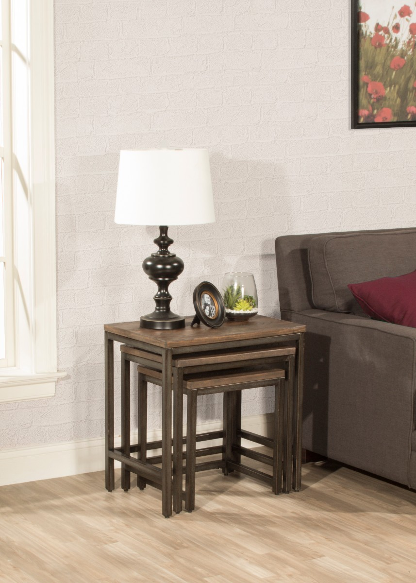 & Castille 3 Piece Nesting Table Set - Hillsdale 5976-881